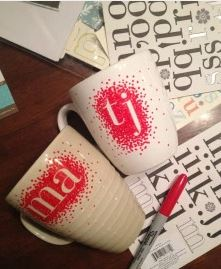 Personalized Mugs - DIY gifts from our storage building