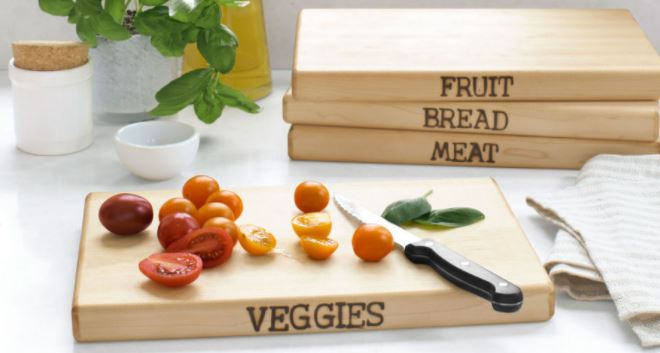 Hand-Stamped Cutting Boards