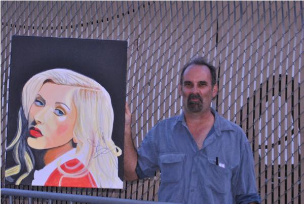 Christina Aguilera Painting