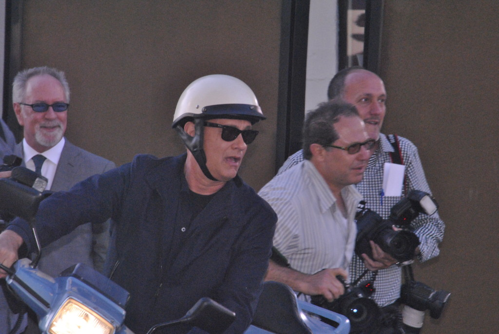 Tom Hanks Rides Red Carpet