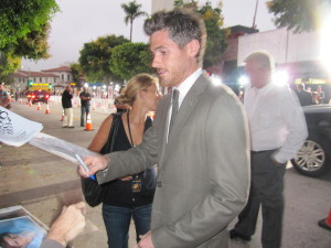 Dave Annable at premiere of What's Your Number in Westwood