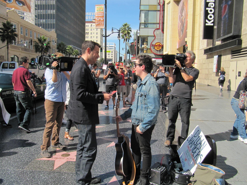Carson Daly Interviews Dylan Chambers on Hollywood Boulevard