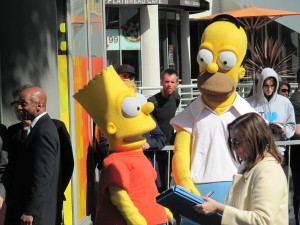 The Simpsons on Hollywood Boulevard