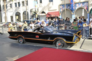 Bat Mobile Across Hollywood Blvd from Hollywood Wax Museum