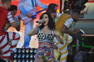 Katy Perry Free Concert in Hollywood Candy Bar Costume