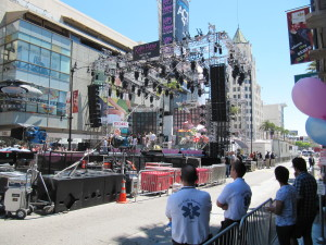 Katy Perry Free Concert in Hollywood Set Up