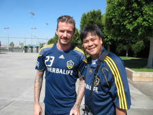 Hollywood Star Sighting David Beckham