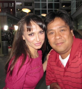 Dancing With the Stars dancer Karina Smirnoff poses with Joseph.
