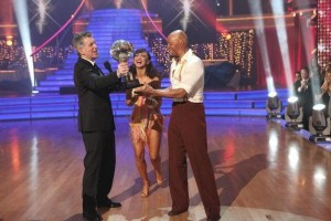 Karina Smirnoff and JR Martinez win Dancing With the Stars.