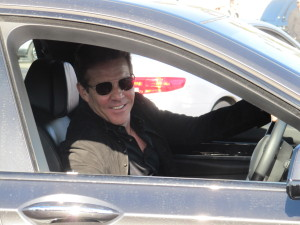 Actor Dennis Quaid drives past Hollywood Joseph in Hollywood, CA.