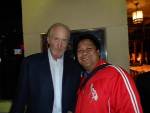 Charles Dance poses with Hollywood Joseph