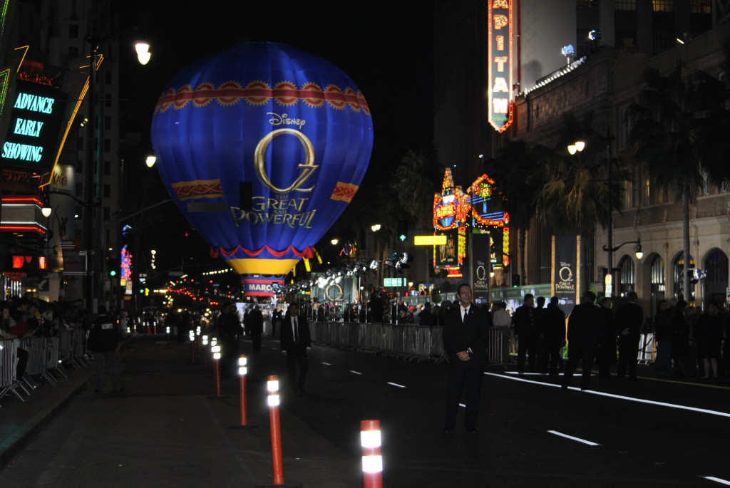 Hot air balloon at  Oz the Great and Powerful premiere, Hollywood, CA.