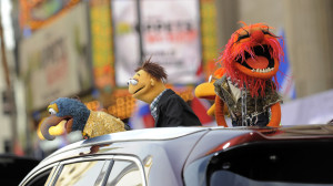 The Muppets arrive in their own limo! (Photo: AP)