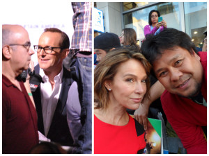 Clark Gregg -- and me with Jennifer Grey!