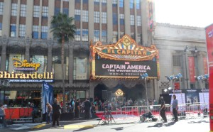 The red carpet for Captain America: The Winter Soldier