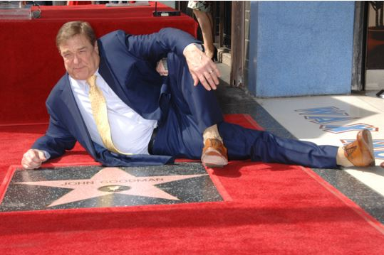 John Goodman Receives Hollywood Walk of Fame Star in Front of Hollywood Wax Museum